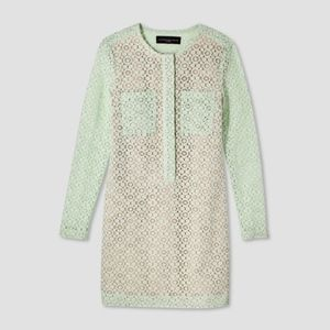 Lace shift dress green Victoria Beckham Target